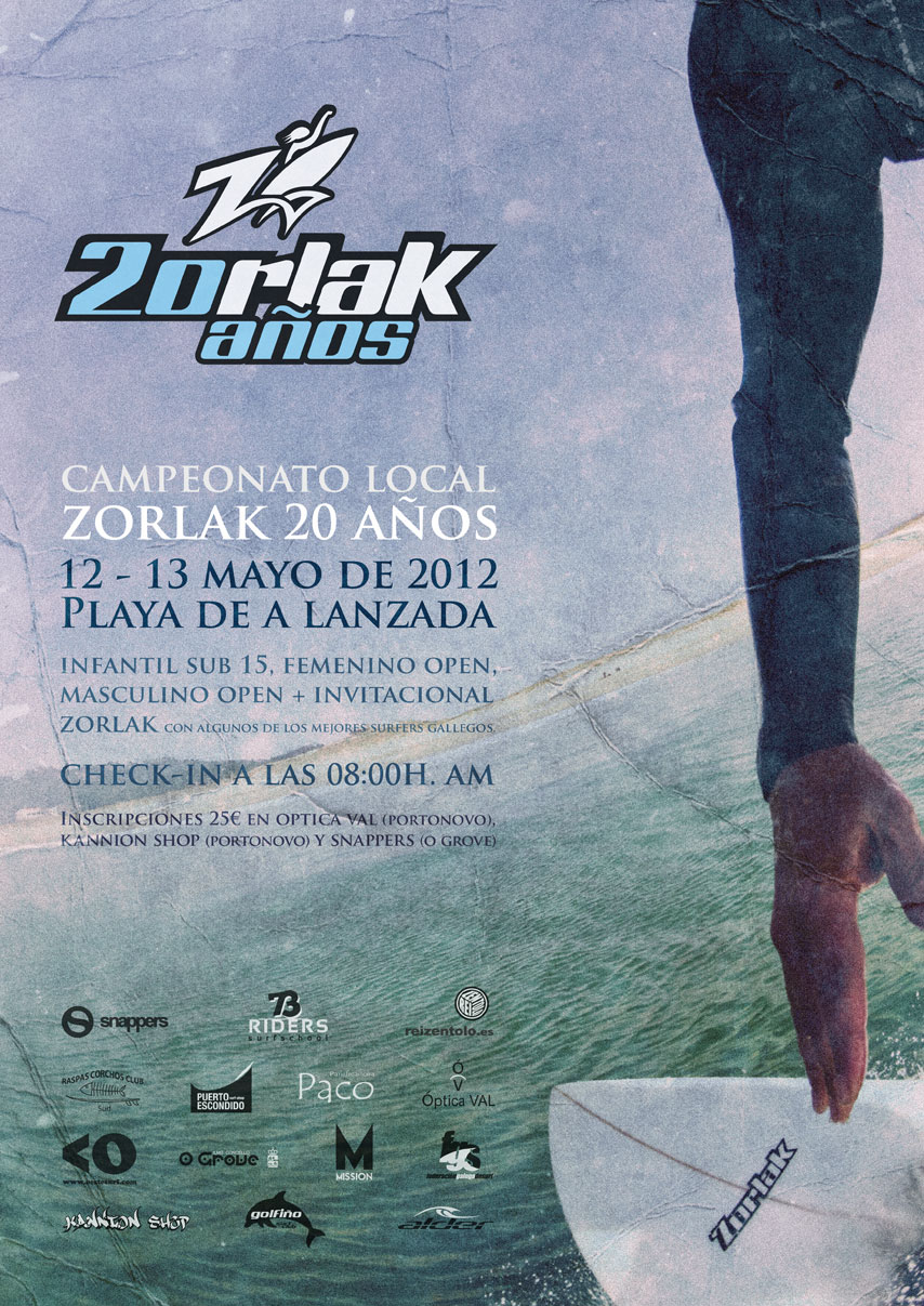 Cartel 20 años de zorlak surfboards
